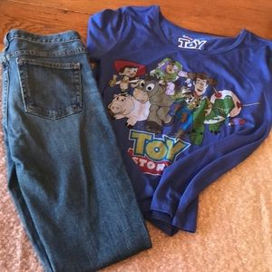Bundle of shirt and J Crew  Jeans 24s